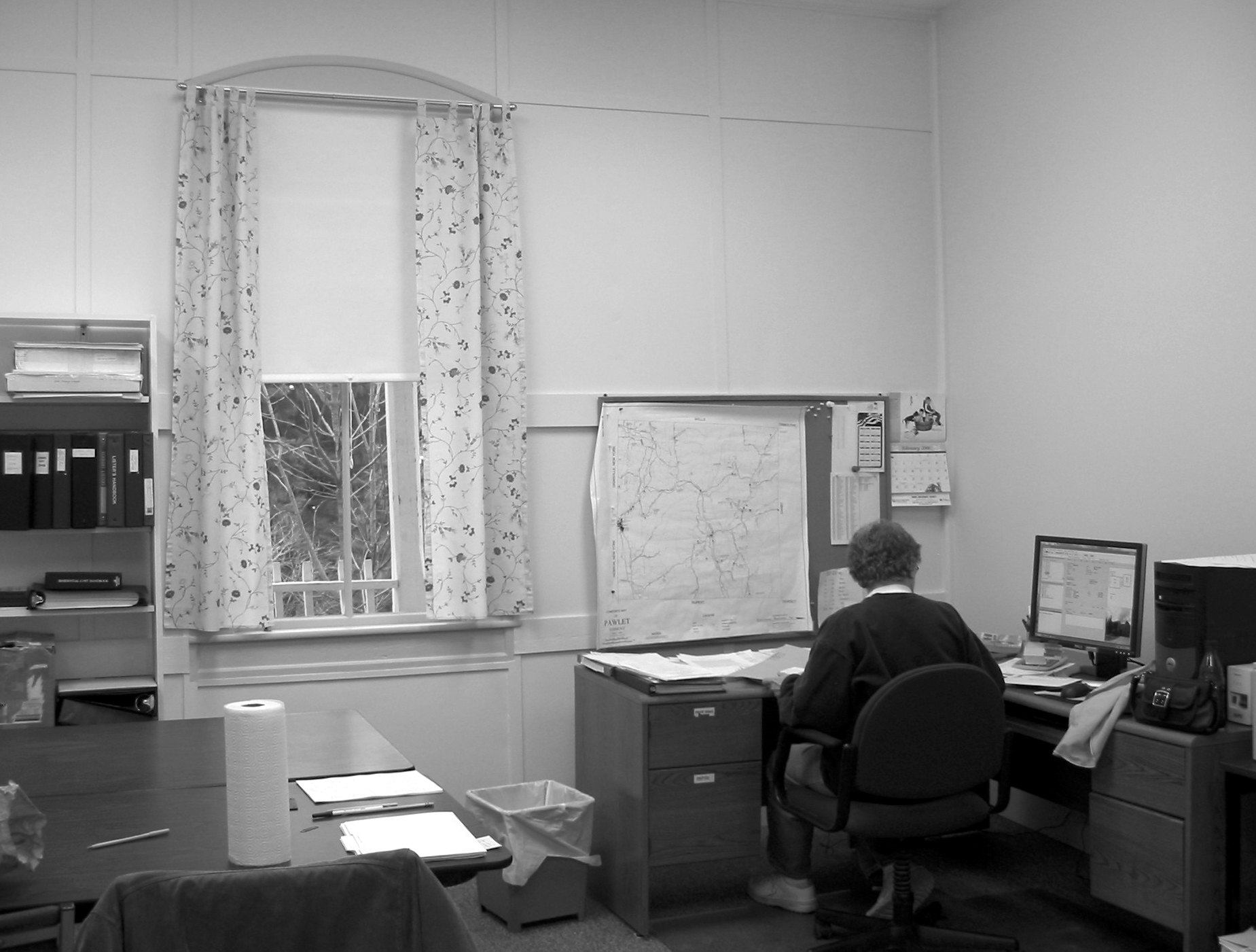 Lister Elaine Decker works in the listers' office at the Town Hall.